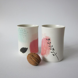 gobelets porcelaines