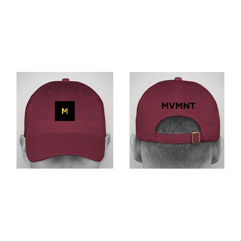 "MVMNT Golden ""M"" dad hats"