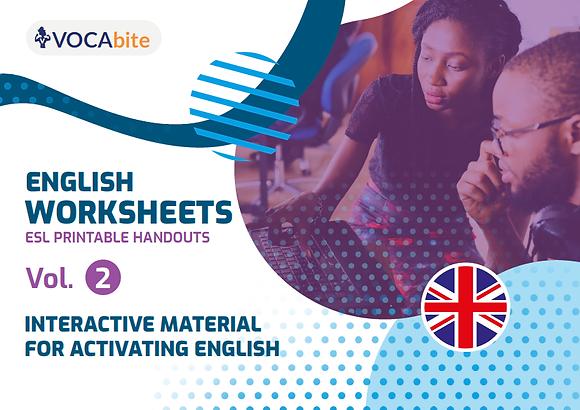 ENGLISH WORKSHEETS - ESL printable handouts VOL.2