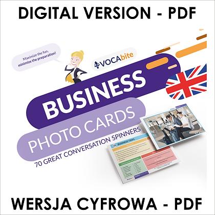 WERSJA CYFROWA - Business Photo Cards - zestaw 70 kart