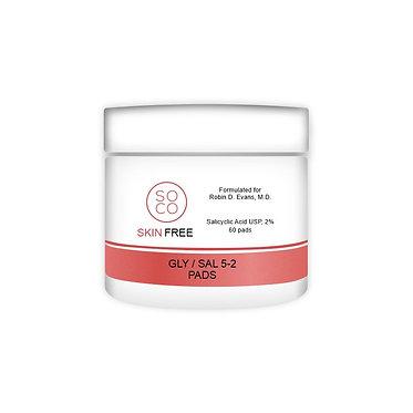 SoCo Skin Free 2% Salicyclic Peel Pads