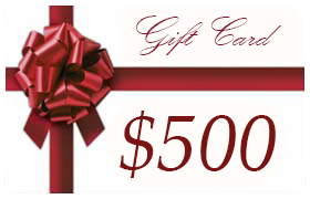 Gift Certificate Worth $500