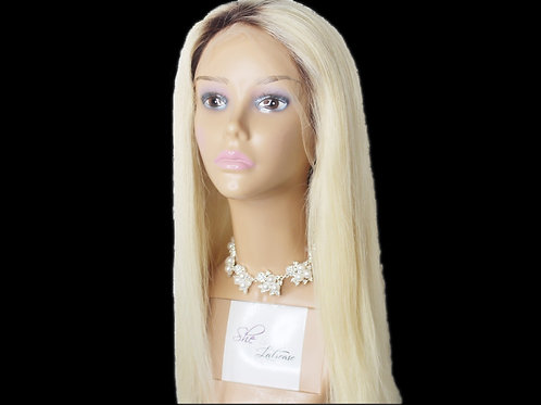 LACE FRONT STRAIGHT 613/Dark Roots WIG 180% Density