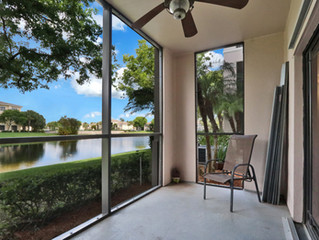 Just Listed - Beautiful 1BR 1BA condo with lake views in Palm Beach Gardens