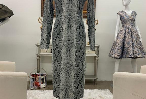 Silk Stretch Turtle-neck dress