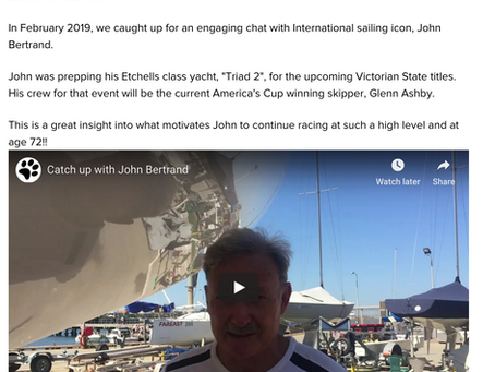 Catch Up with Sailing Legend, John Bertrand