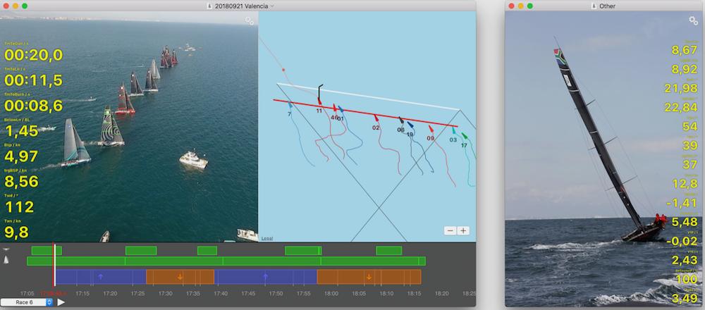 Screenshot of the SailNjord platform by Jonas Witt