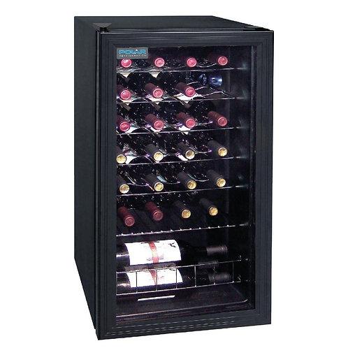 Polar Wine Cooler - 26 bottles (Mechanical) Glass Door Metal Racks