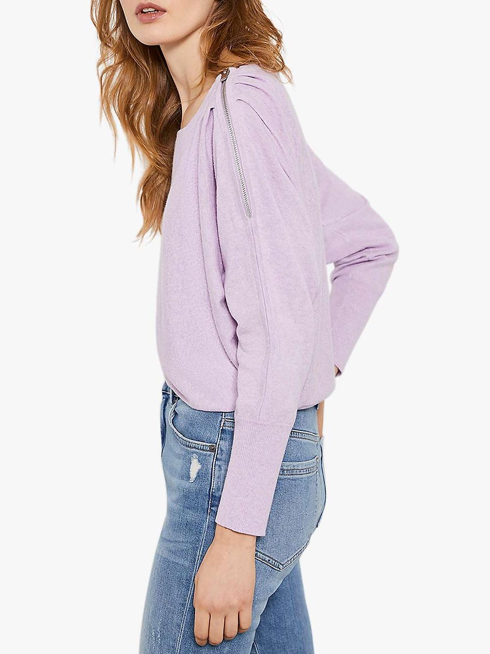 mint velvet light purple lilac batwing top