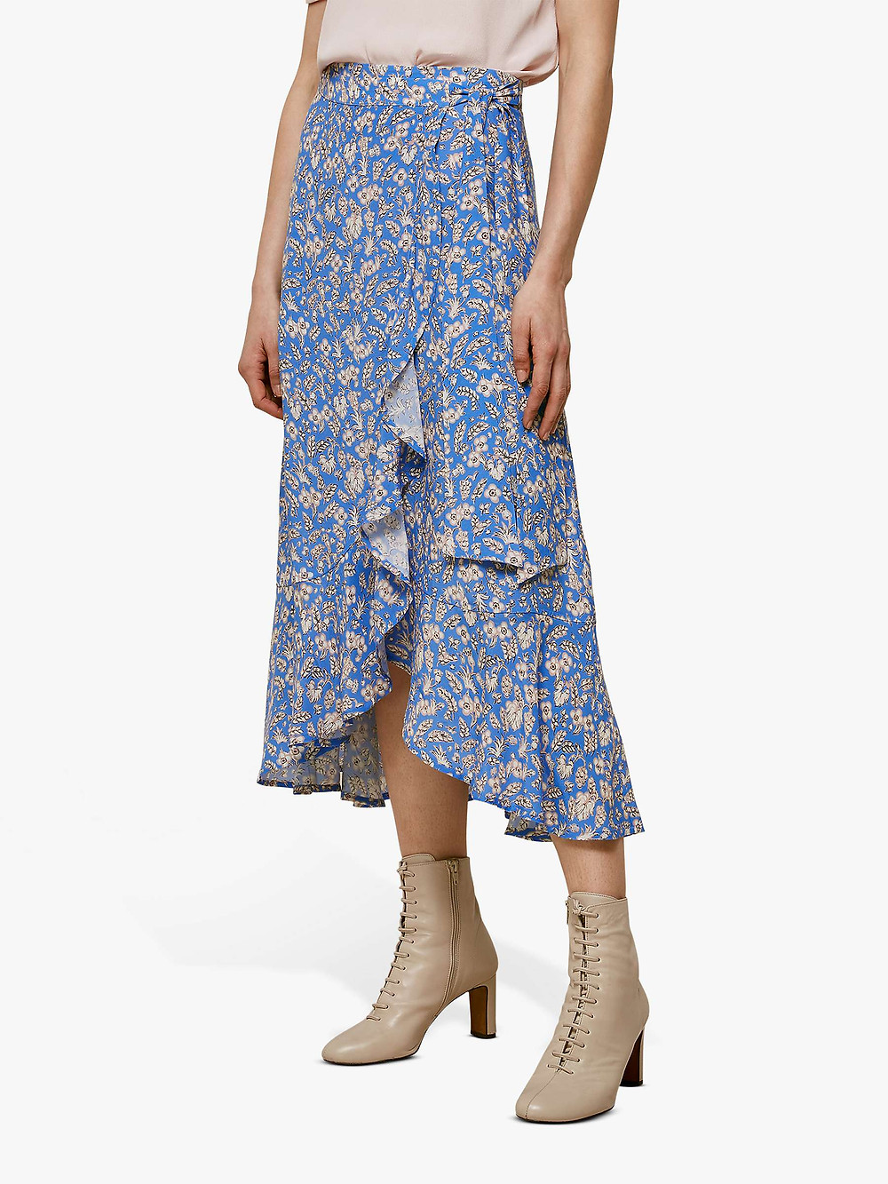 Whistles floral skirt in a flamingo style