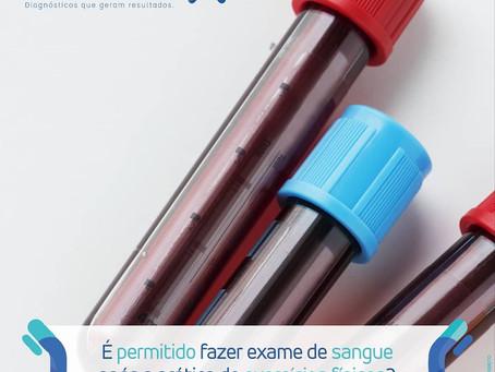 É permitido fazer Exame de Sangue após a prática de exercícios físicos?