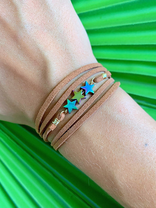 Rainbow Stars Necklace Wrap