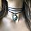 Thumbnail: Jasper Beach Shell Vegan Suede Necklace Wrap