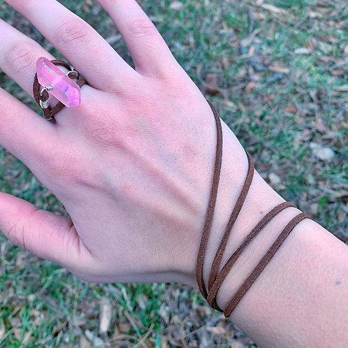 Pink Quartz Bracelet Wrap