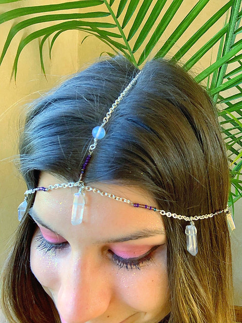 Angel Quartz & Moonstone Headpiece