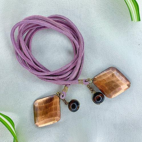 Lavender & Wood Calming Vegan Necklace Wrap