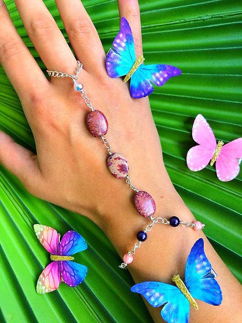 Butterfly Jasper Stone Hand Chain