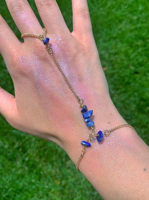 Lapis Lazuli Mermaid Hand Chain