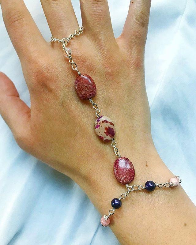 Jasper Ring Bracelet, Festival Accessories