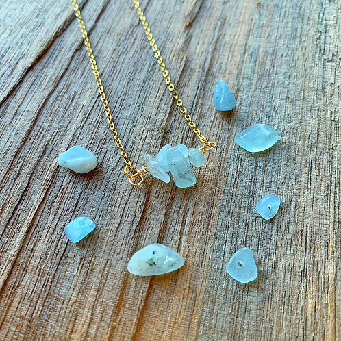 Aquamarine Dainty Necklace