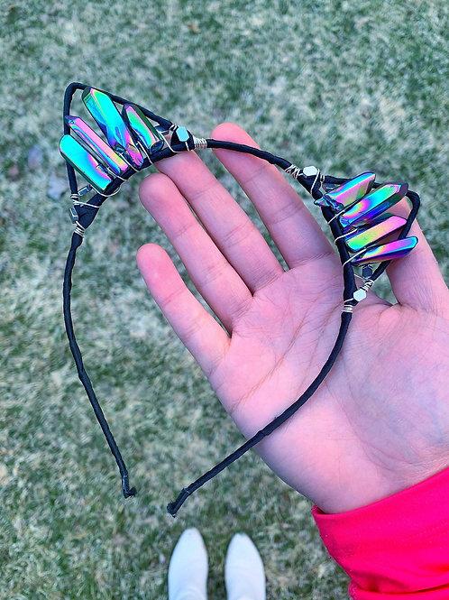 Space Kitten Headband - Celestial Quartz