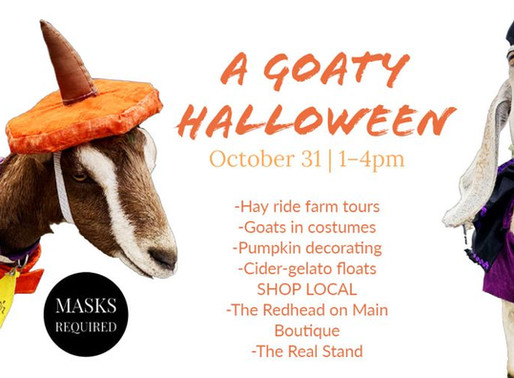 """Embracing the wind down, Final outdoor market and """"Goaty Halloween"""""""