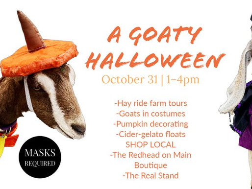 "Embracing the wind down, Final outdoor market and ""Goaty Halloween"""