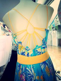 Shoe string back of summer dress