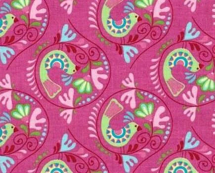 Chirpy Lola Birds Pink