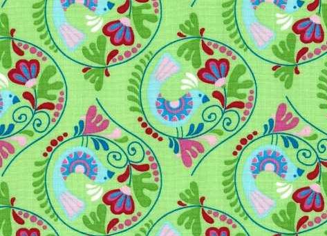 Chirpy Lola Birds Green