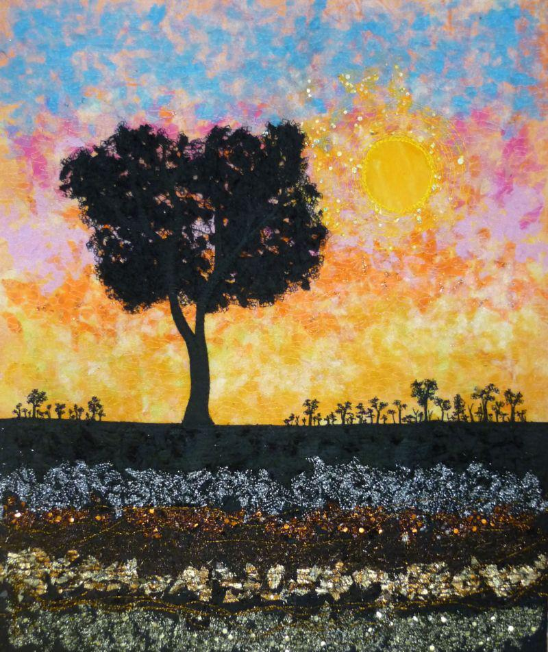 Landscape silhouette