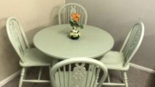 Bistro Table with Farmhouse Chairs
