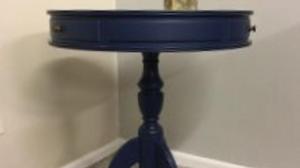 Dark Blue 3 Drawer Lamp Table