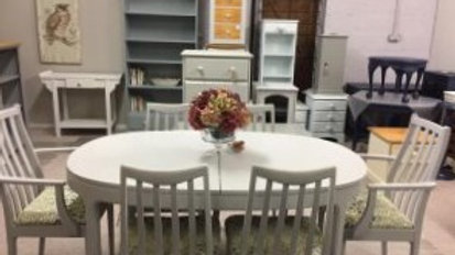 Six to Eight Seater Dining Room Set