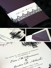 Modern Damask Wedding Invitation Collection by ae designs