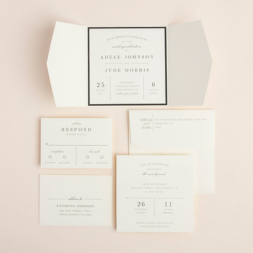 Sidecar Wedding Invitation