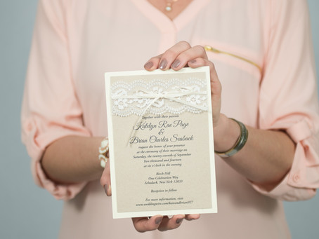 Custom wedding invitations are a MUST for your big day!