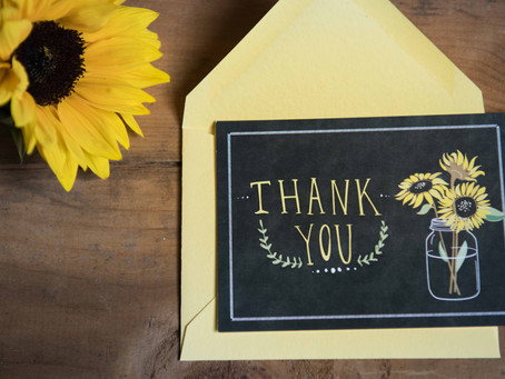 Tips for writing Thank you cards!