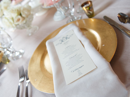 How to create your wedding menus?