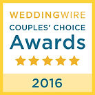 2016 Wedding Wire Couples' Choice Award Winner - Ashley Elizabeth Designs - New Hampshire