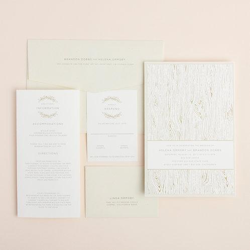Woodgrain Wedding Invitation