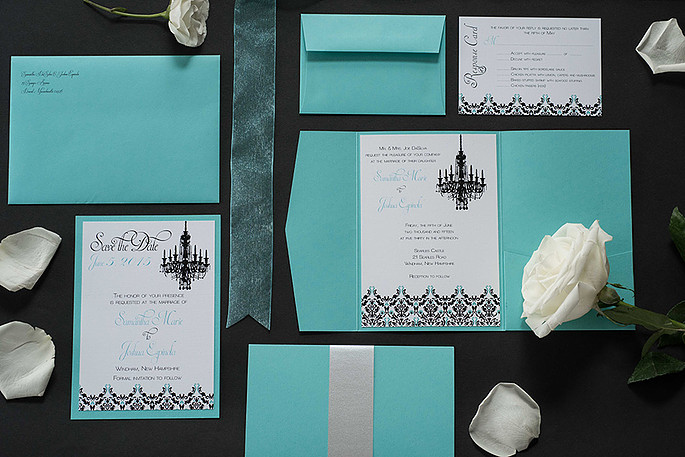 Ashley Elizabeth Designs Custom Wedding Invitation