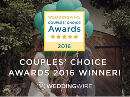 Concord's own Ashley Elizabeth Designs Wins a WeddingWire Couples' Choice Award® 2016