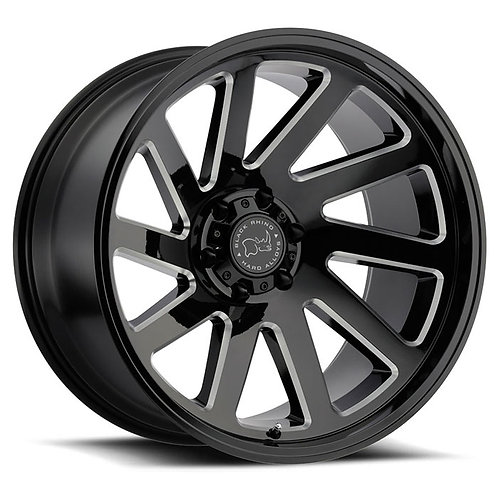 Thrust - Gloss Black with Milled Spokes