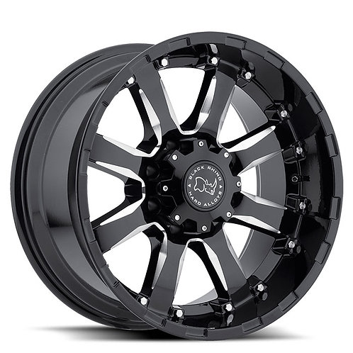 Sierra - Gloss Black with Milled Spokes