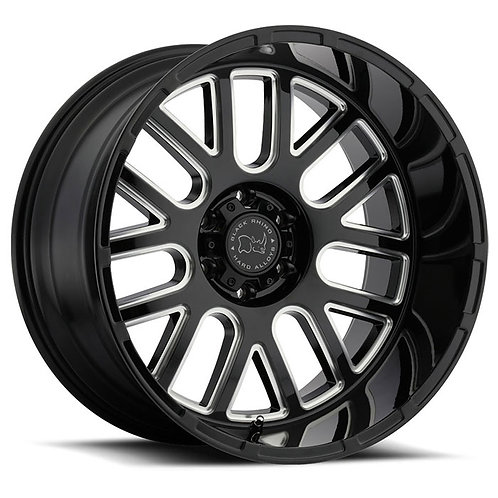 Pismo - Gloss Black with Milled Spokes