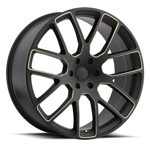 Kunene - Matte Black with Dark Tint Milled Spokes