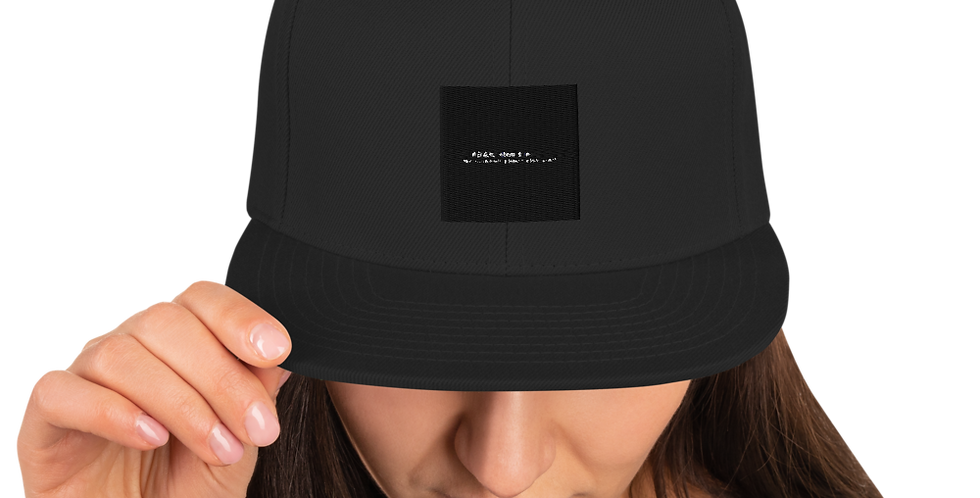 Snapback-Cap with our Logo