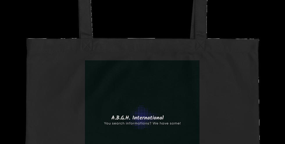 Large organic cotton bag