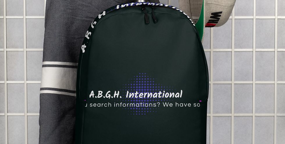 Minimalist backpack with our logo